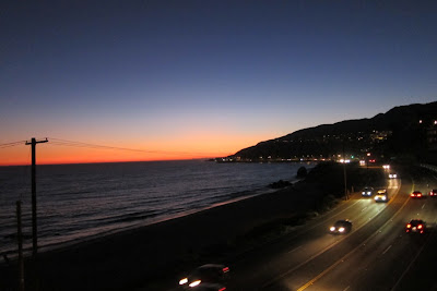 This is the view along Pacific Coast Highway last night (Saturday