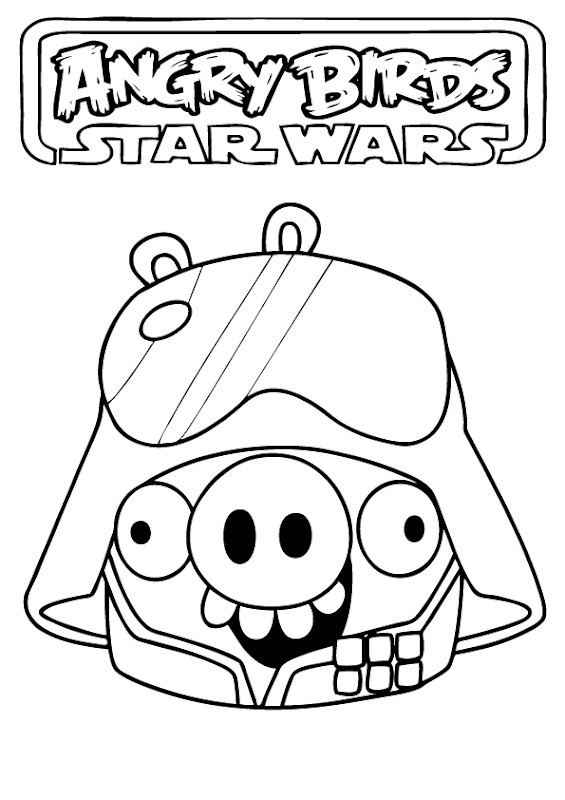 Angry Birds Star Wars Coloring Pages title=