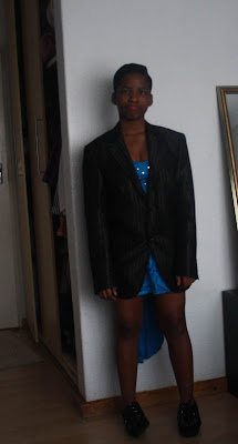 khensani mohlatlole, glitter daiquiri, boyfriend blazer, dad's blazer, matric dance dress, prom, formal, creepers