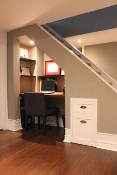 Aprovechar hueco de escalera, zona de estudio