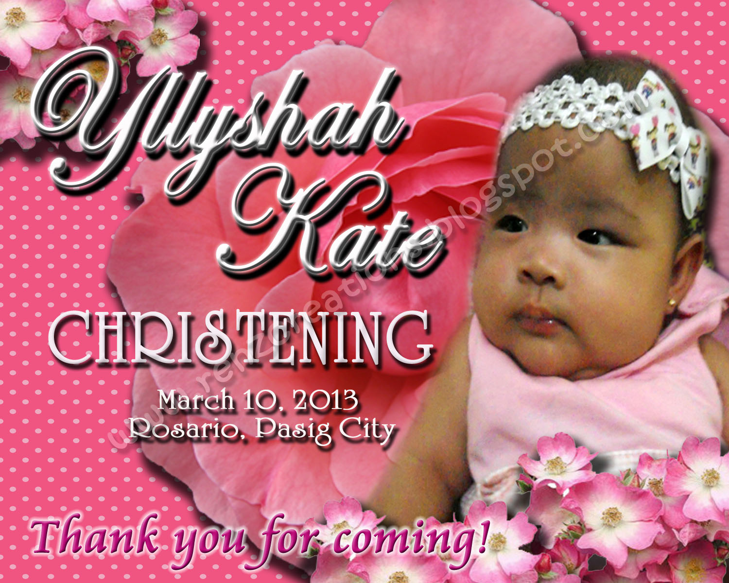 Renz creations invitations and giveaways yllyshah kate 39 s christening giveaways - Giveaways baptism ...