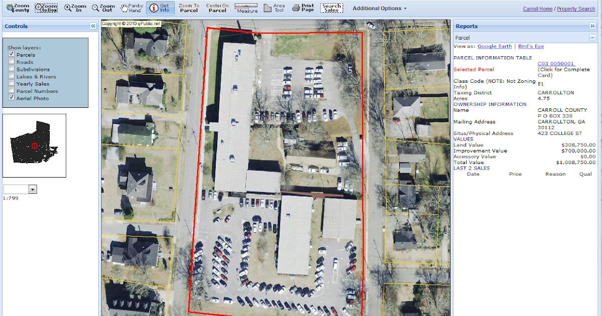 Carroll County, Georgia: Tax Assessor Adds New Map Interface, Aerial ...
