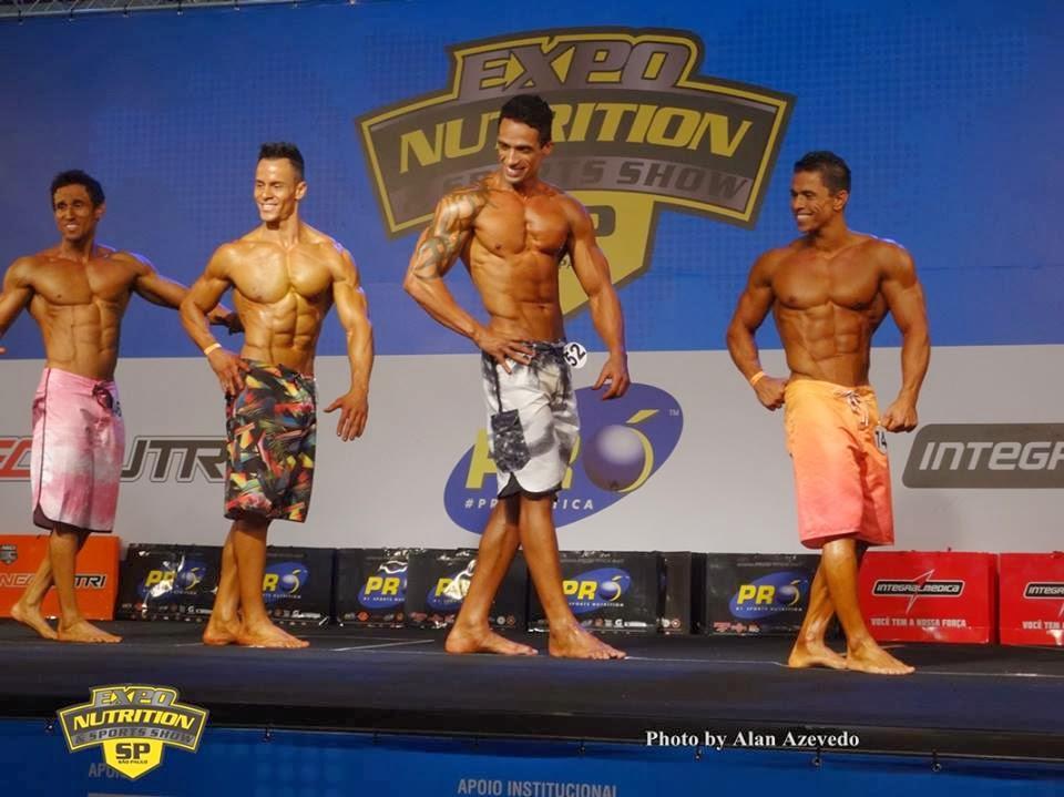 45 atletas participaram da competição. Na foto, os finalistas da categoria Men's Physique