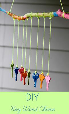 Móvil con llaves viejas en Recicla Inventa