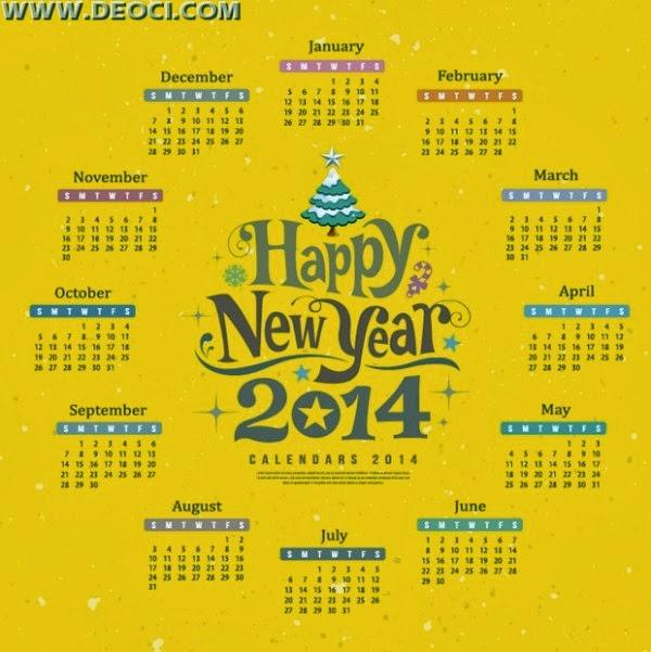 Calendar Designs of 2014
