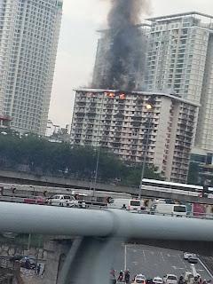 Kebakaran di Flat PKNS Pantai Dalam-Kerinchi
