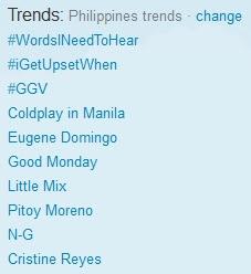 Coldplay In Manila Trending