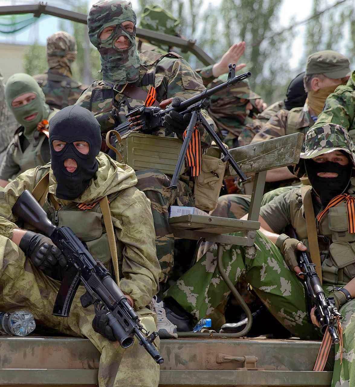 Separatistas reforçados por mercenários e militares russos