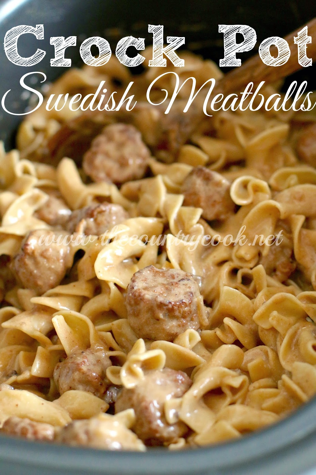 Crock Pot Swedish Meatballs - The Country Cook