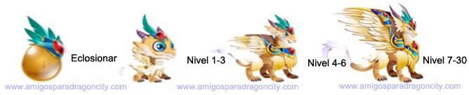 imagen del crecimiento del dragon arcangel