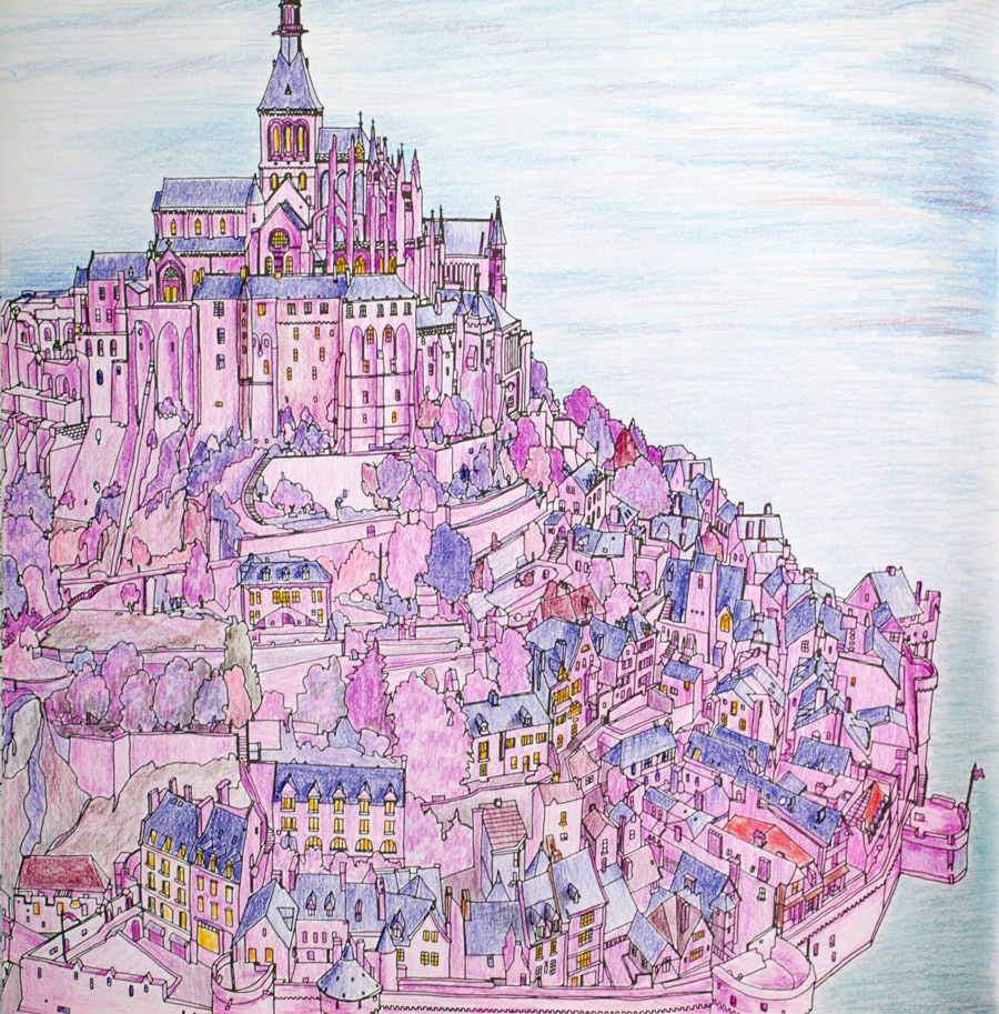 80 Fantastic Cities Coloring Book Images