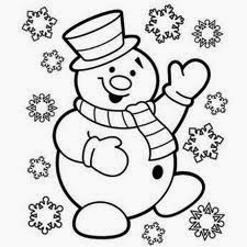 Five Cute Christmas Coloring Pages