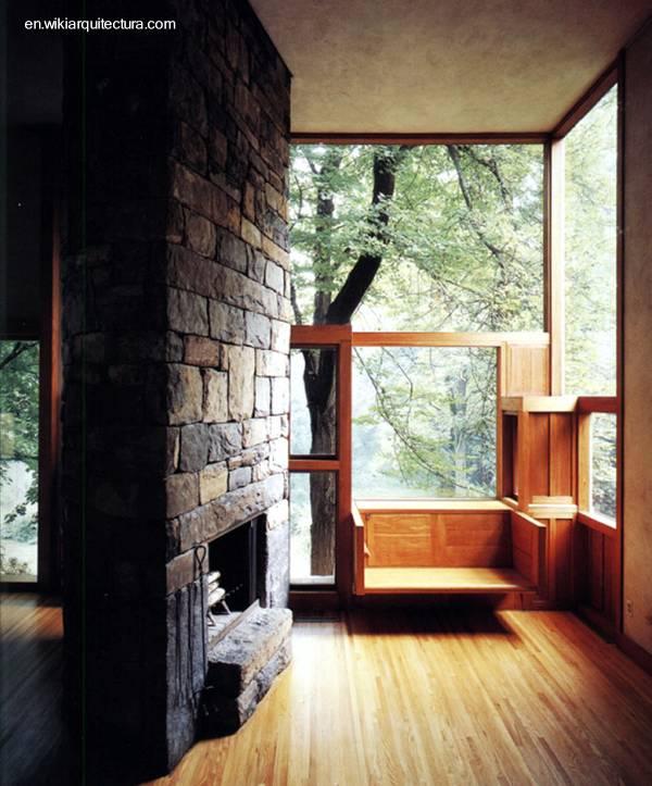 Arquitectura de casas casa cubo moderna de madera y piedra - Casas de piedra y madera ...