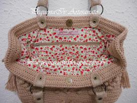 Bolsa Jolie Nude - Estampa mini rosas