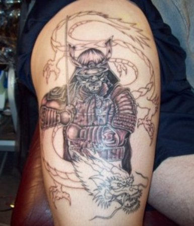 samurai tattoos code of bushido japanese tattoo designs. Black Bedroom Furniture Sets. Home Design Ideas