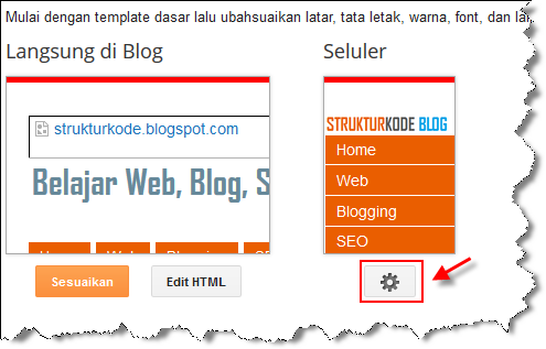 Cara mengaktifkan template blog mobile friendly