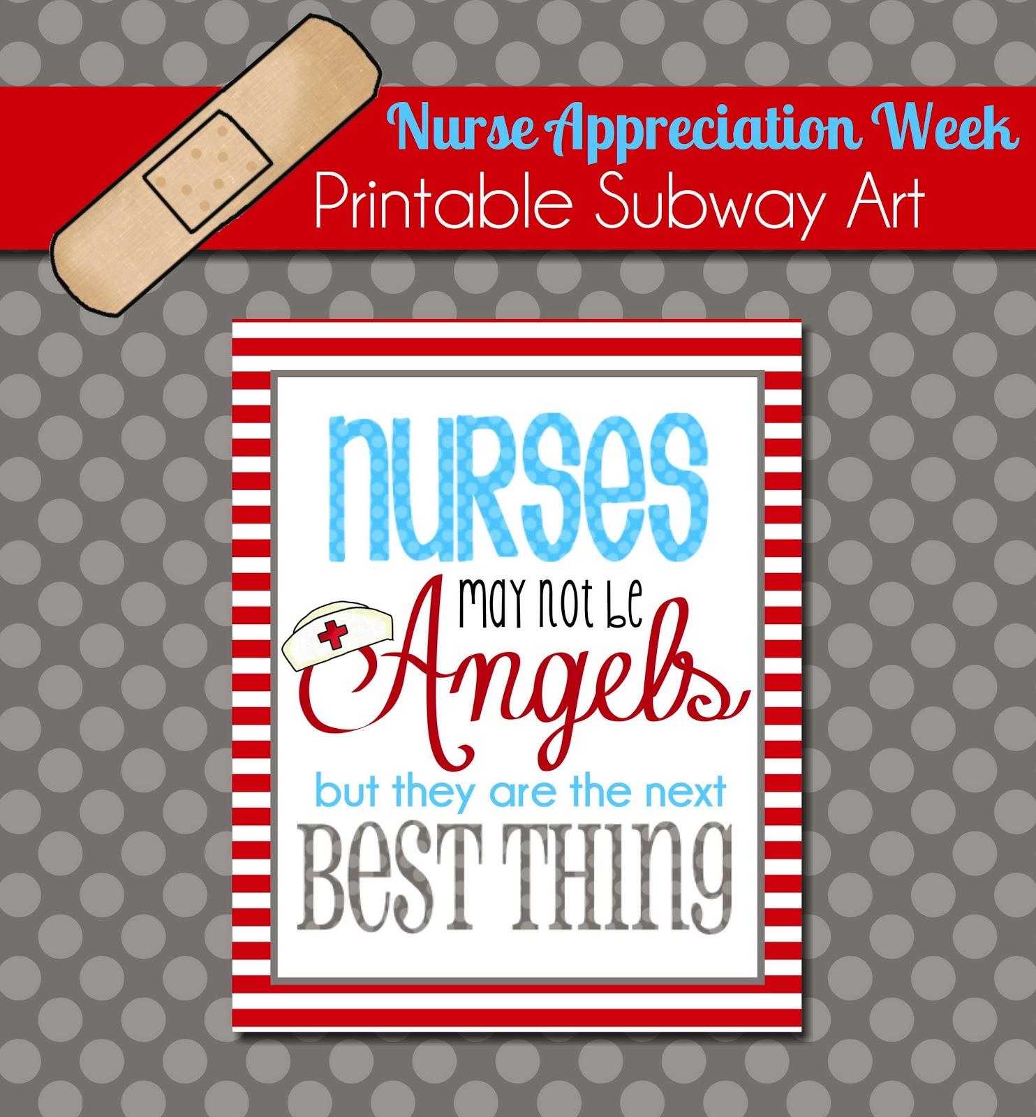 The Polka Dot Posie: Brighten a Nurse\'s Day with this Free Printable ...