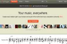 Escribir música y compartirla en internet: Noteflight