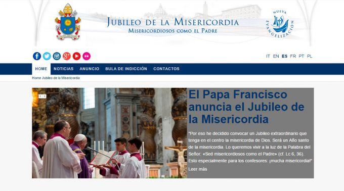 Web del Jubileo de la Misericordia 2016