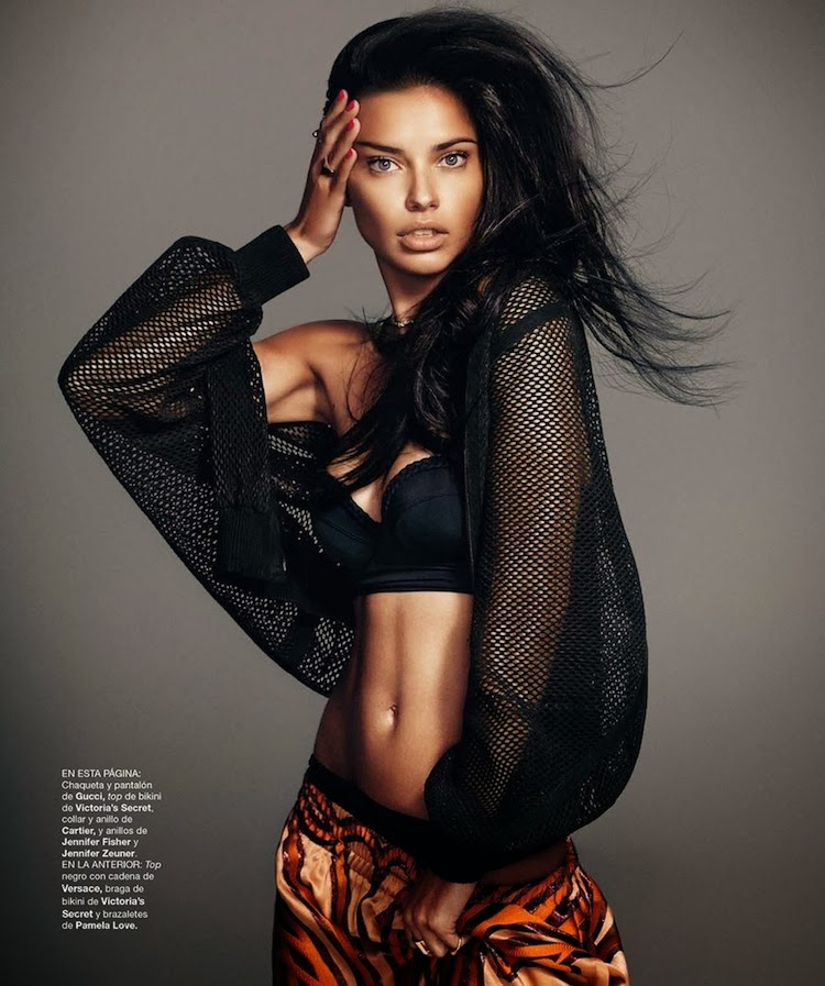 Adriana Lima by Nico for Harper's Bazaar Spain February 2014