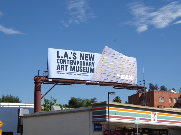 Broad LA art museum special extension billboard