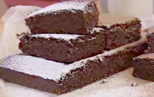 Brownie casero ligth