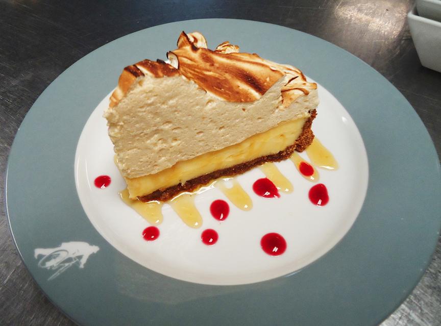East coast style for Lemon meringue pie with graham cracker crust