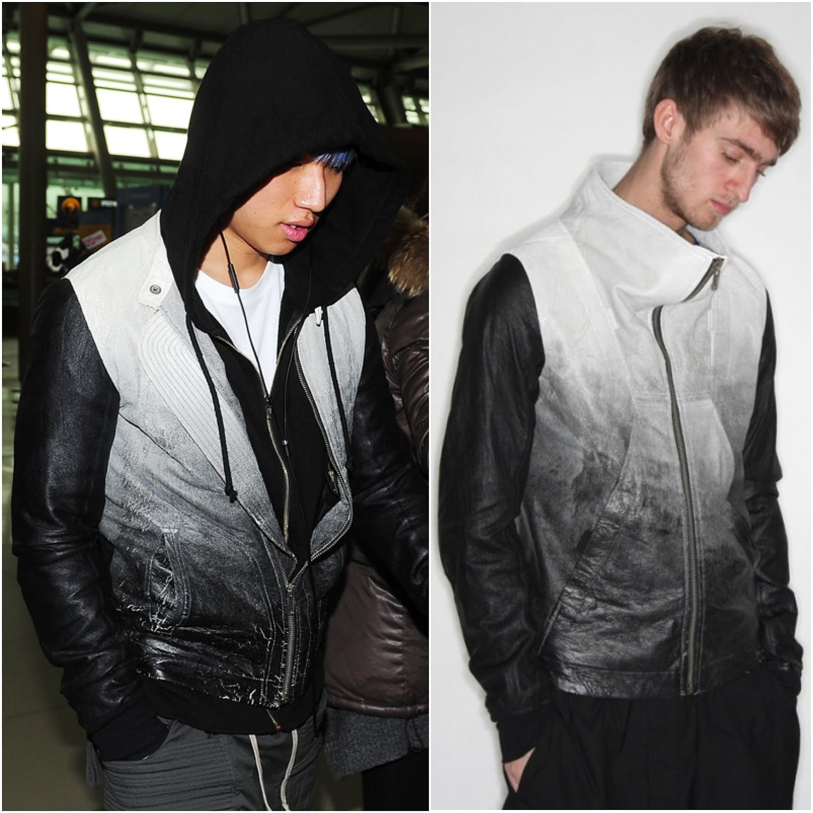 DaCheng from BigBang in Rick Owens - Incheon Airport