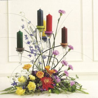 Romantic Tall Candle Wedding Centerpieces