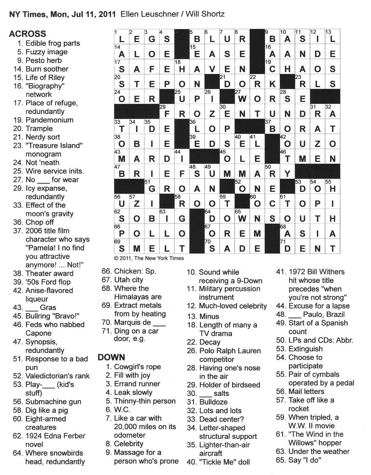 Worksheet Percussion Instruments Crossword the new york times crossword in gothic 07 11 monday click on image to enlarge