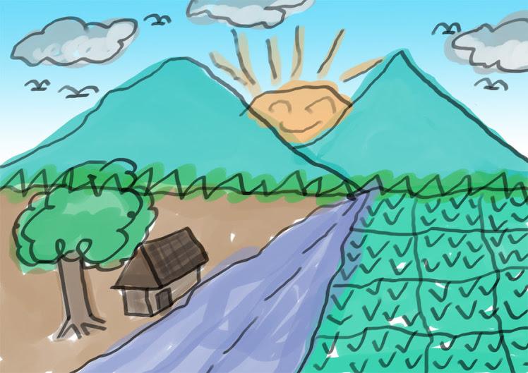 pemandangan desa