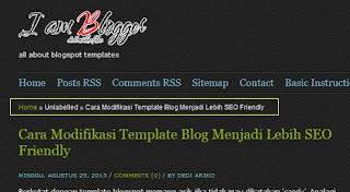 Cara modifikasi template blogspot agar SEO Friendly