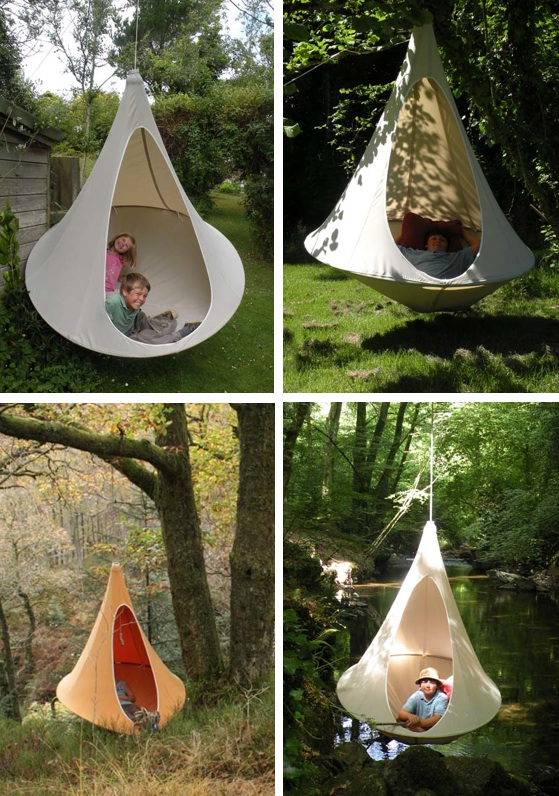 natural modern interiors: Garden Pods, Hanging Playrooms ...