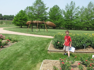 Scared of Giant Ant Sculpture Reiman Gardens