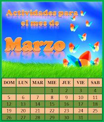 ACTIVIDADES PARA EL MES DE MARZO