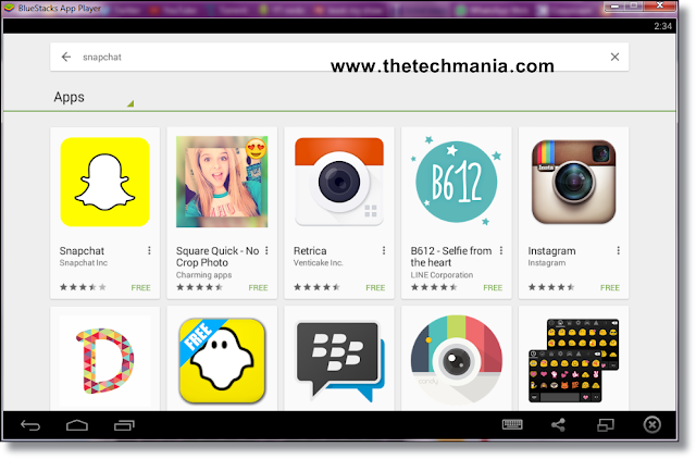 ... download an android emulator software to download Snapchat For PC