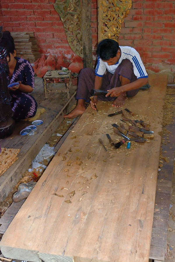 Carving teak in Mandalay