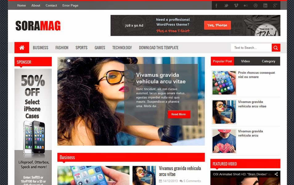 200 best free responsive blogger templates 2014 sora mag is a complete blogger theme for a news or magazine site with the focus of attracting and keeping visitors on their site it uses the best clean seo cheaphphosting Images