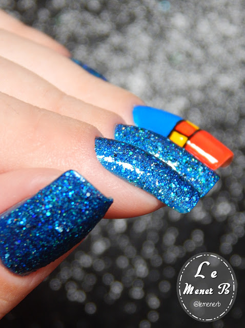 unha decorada com glitter