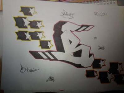 graffiti alphabet b. Label: graffiti alphabet B,