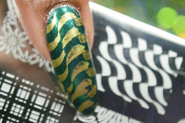 """Stamping Nail Art Using """"Lily Anna 14"""" Plate"""