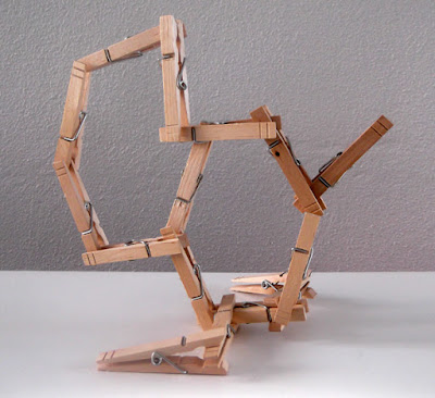 clothespins, crafts, kids, 3d art, free standing form, modular, architecture, kids crafts, wood,