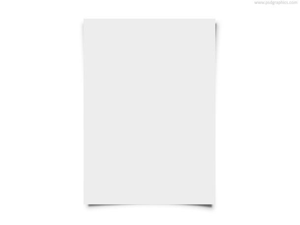 Blank White Paper PSD