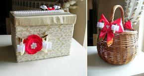 pudełko i koszyk