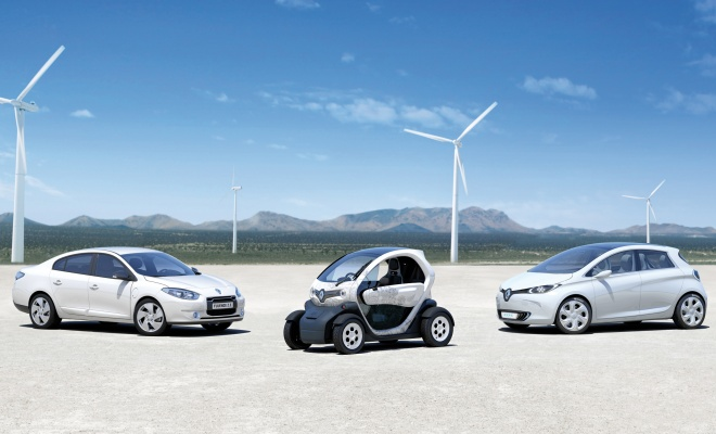 Three Renault EVs