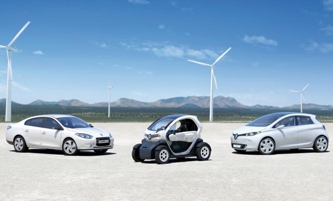 Three Renault EVs