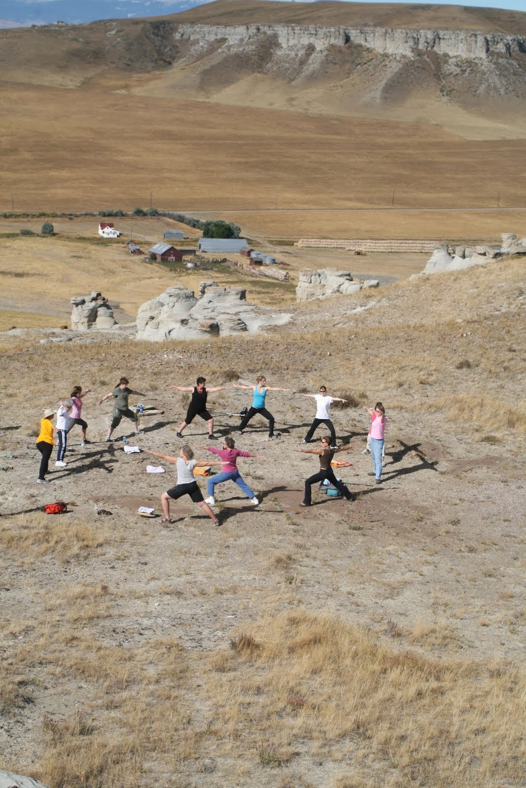 Yoga on Priest Butte