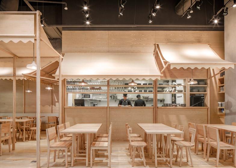 Dise o en madera un restaurante en bangkok ilia estudio for Restaurante madera