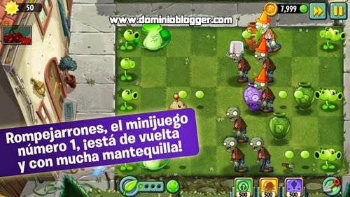 Juega el nuevo Plants vs Zombies 2 gratis en tu telefono movil