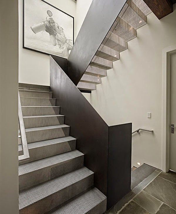 clean metal stairs with simple designs